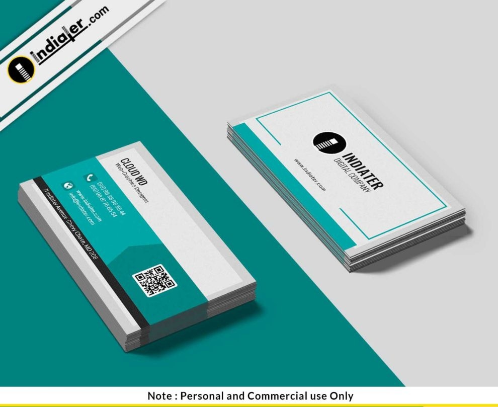 Free Printable Business Cards Psd Template - Indiater - Free Printable Personal Cards