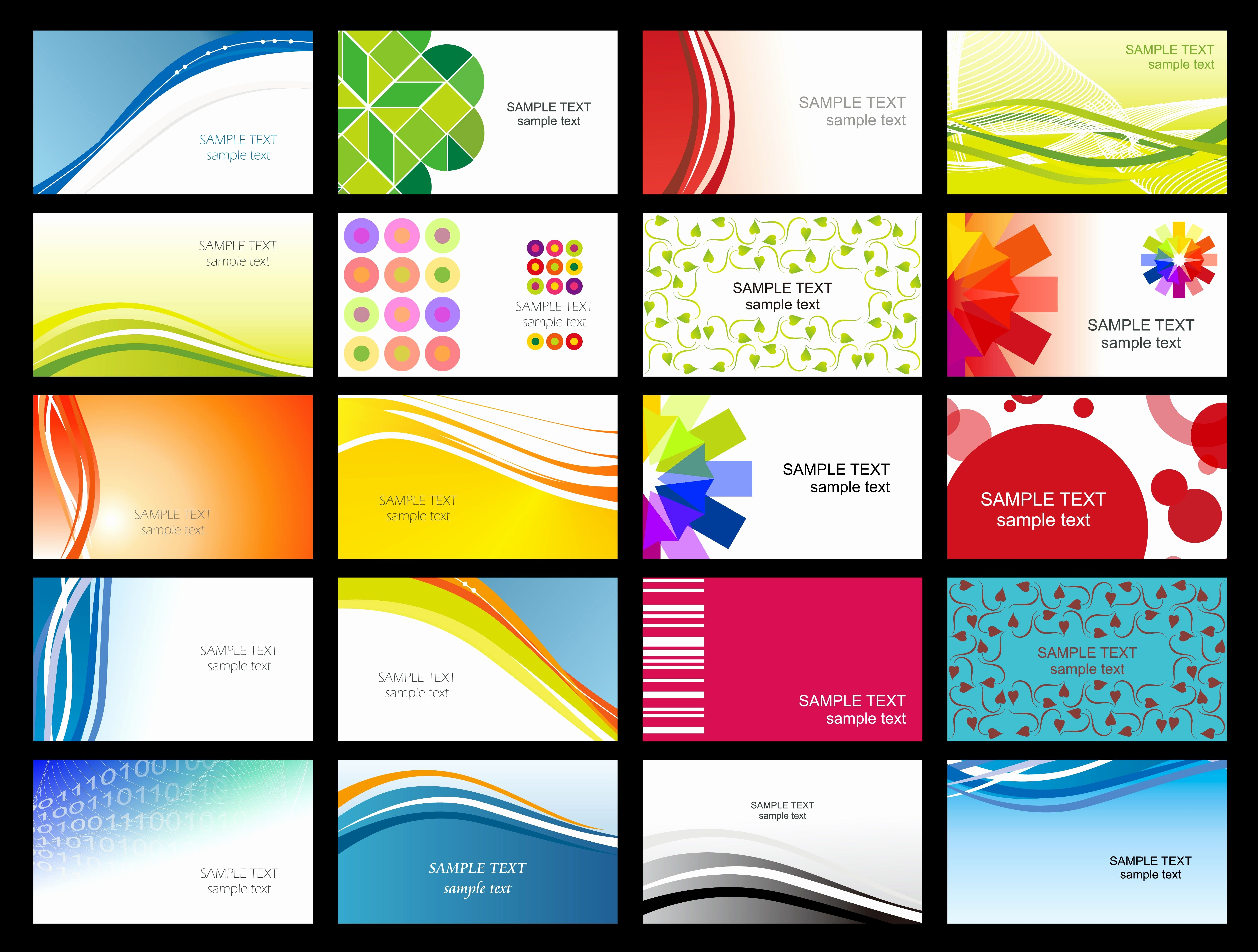 Free Printable Business Cards Templates Elegant 4 491 Free Business - Free Printable Business Card Templates