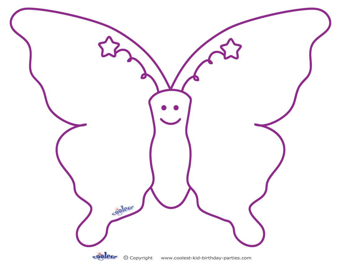 Free Printable Butterfly Templates | Butterfly Templates | Butterfly - Free Printable Butterfly Template