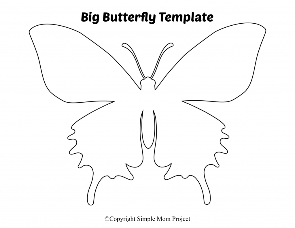 Free Printable Butterfly Templates - Simple Mom Project - Free Printable Butterfly Template