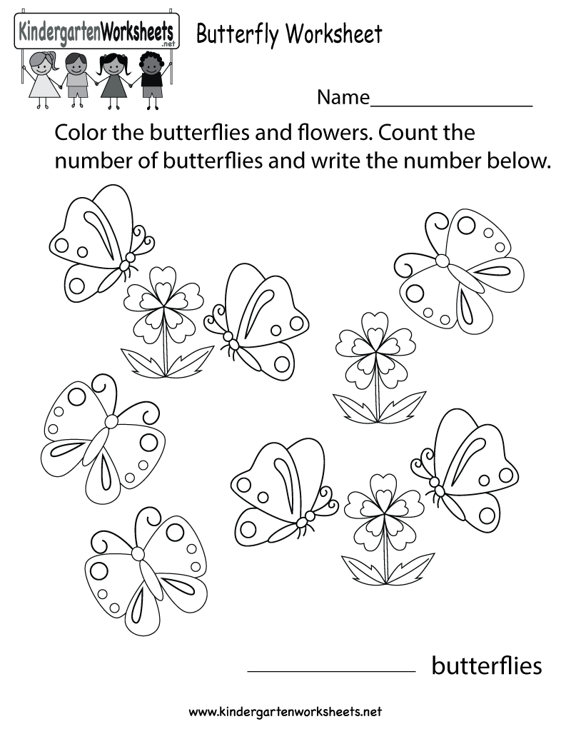 Free Printable Butterfly Worksheet For Kindergarten - Free Printable Butterfly Worksheets