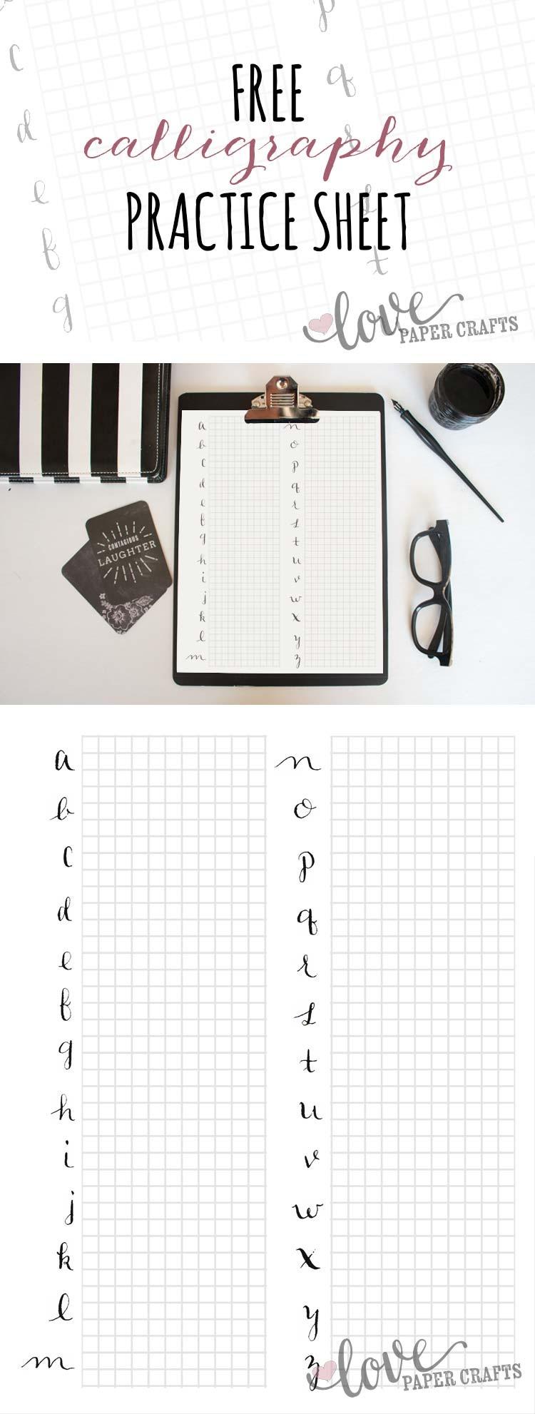 Free Printable Calligraphy Alphabet Practice Sheets - Free Calligraphy Printables