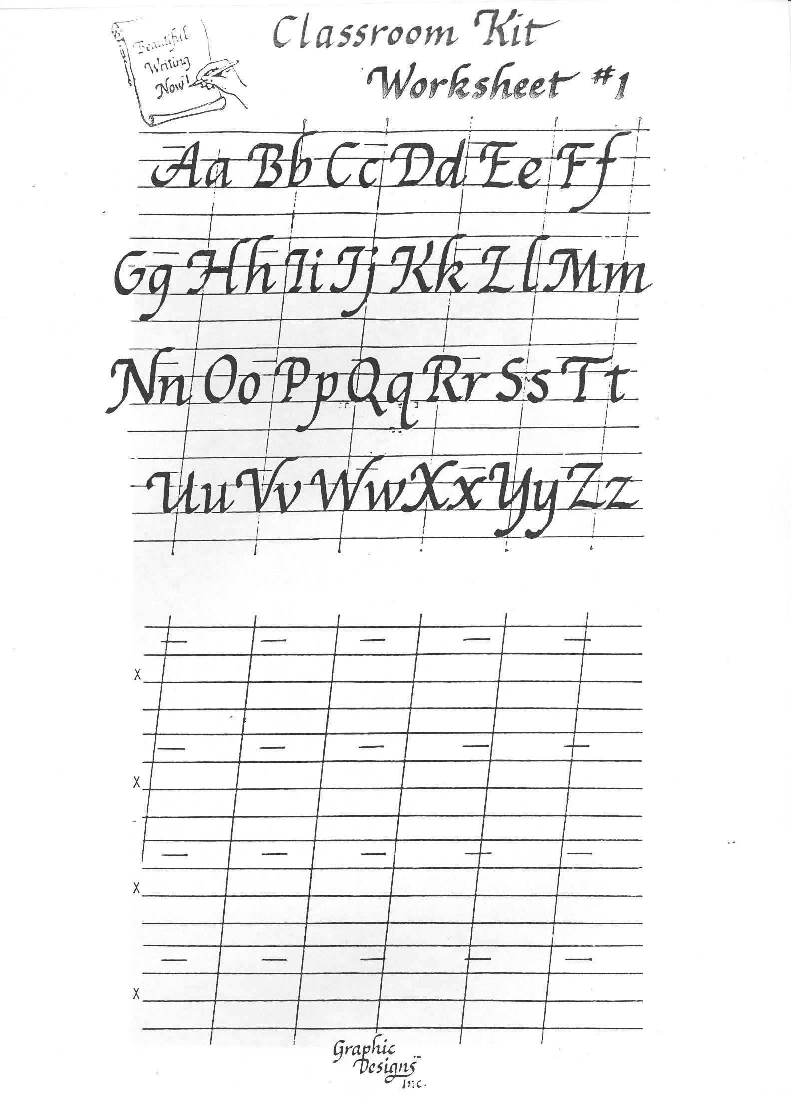 Free Printable Calligraphy Alphabet Practice Sheets | Scrapbooking - Free Calligraphy Printables