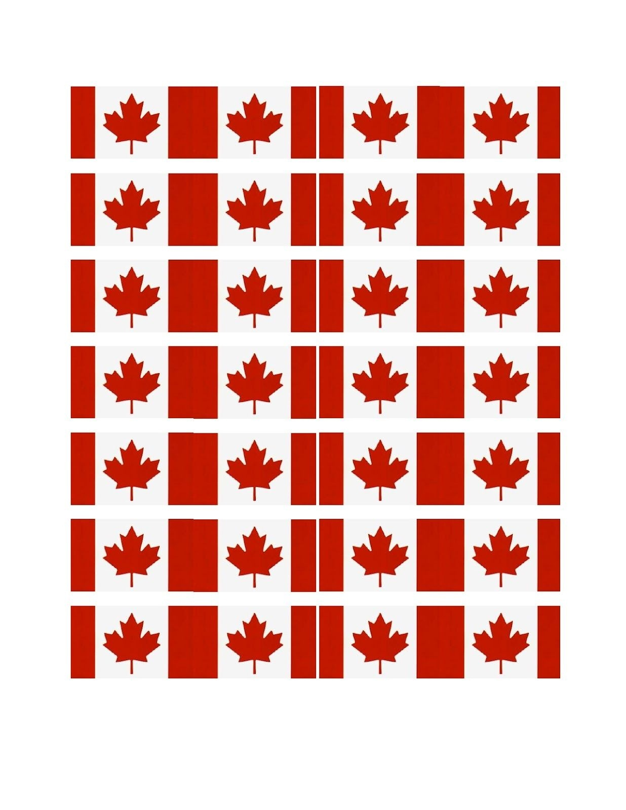 Free Printable Canada Cupcake Flags | Spring & Summer Holidays - Cupcake Flags Printable Free