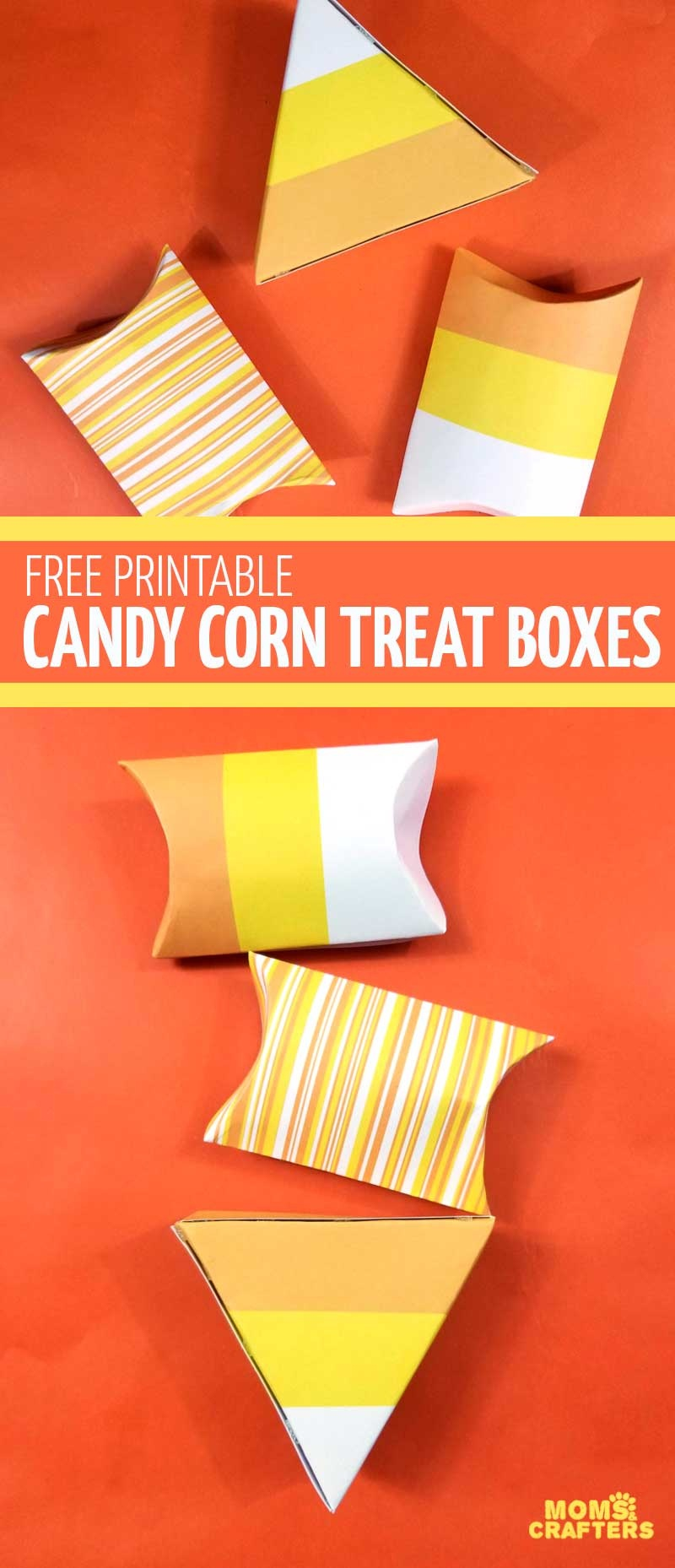 Free Printable Candy Corn Treat Boxes – Moms And Crafters - Free Printable Candy Corn