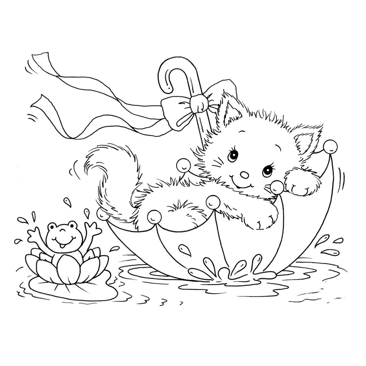 Free Printable Cat Coloring Pages For Kids, Coloring Pictures Of - Free Printable Cat Coloring Pages