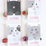 Free Printable Cat Valentine Cards   Free Printable Cat Valentine Cards