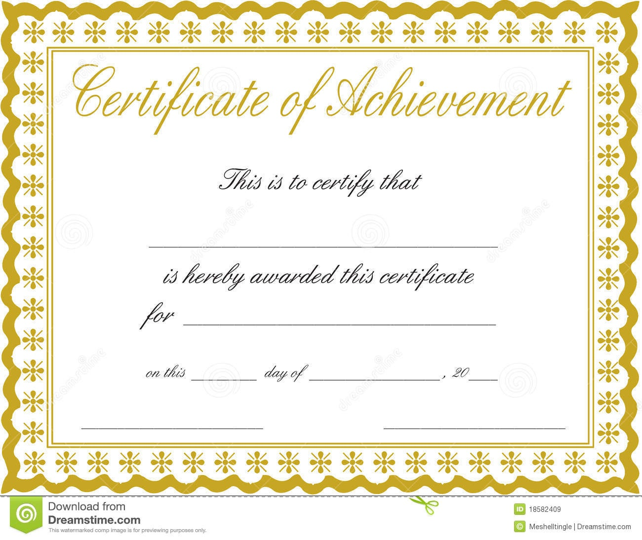 Free Printable Certificate Of Achievement - Design Templates - Free Customizable Printable Certificates Of Achievement