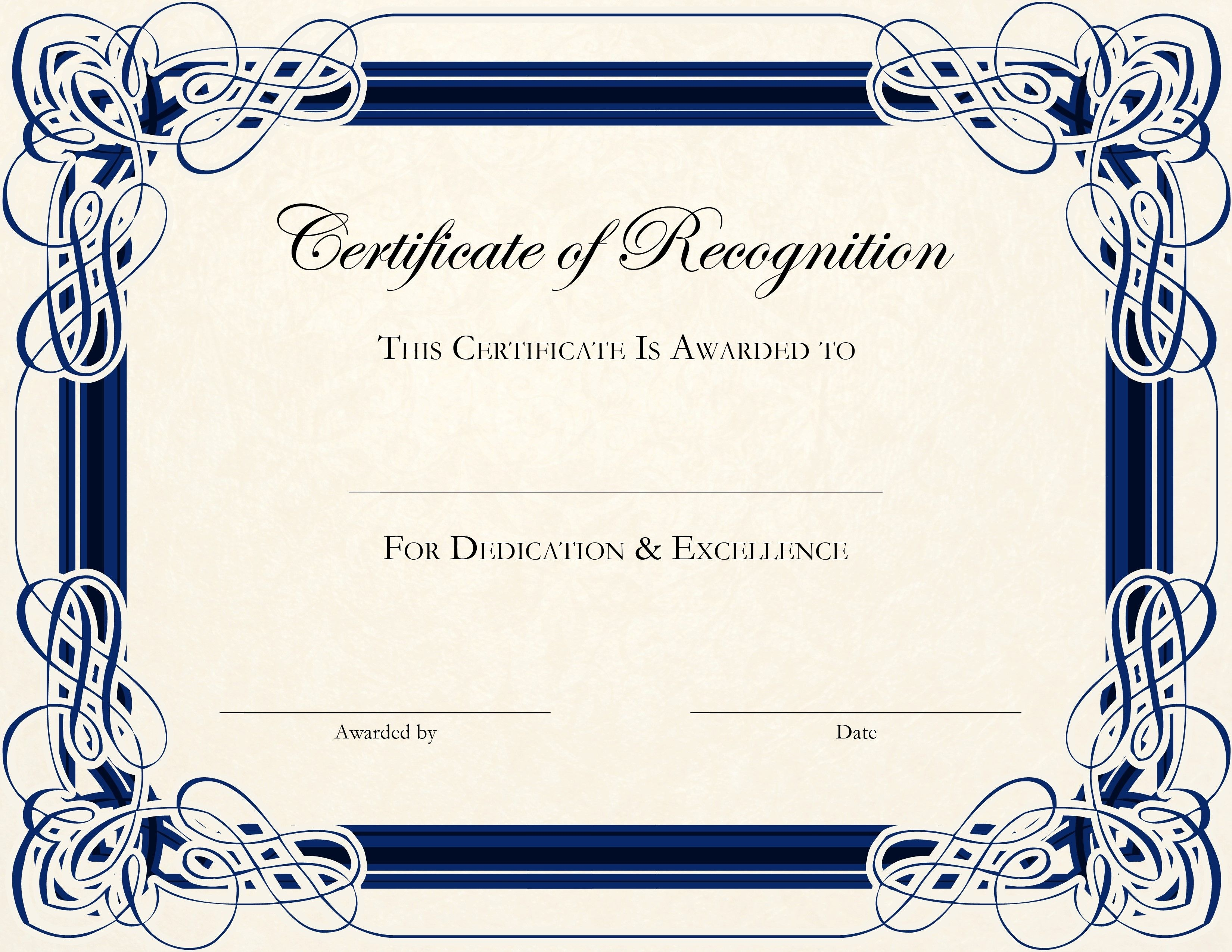 Free Printable Certificate Templates For Teachers | Besttemplate123 - Free Printable Blank Certificates Of Achievement