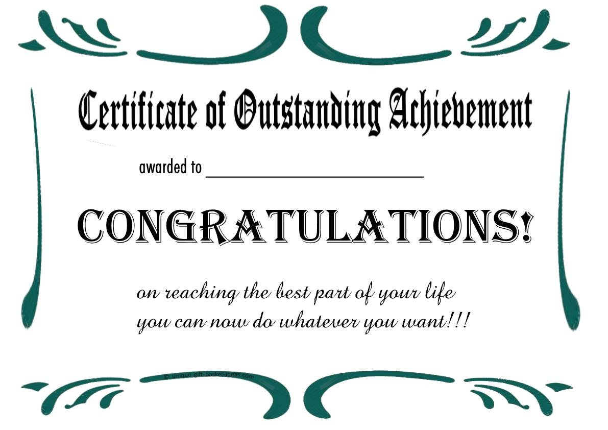 Free Printable Certificates And Awards To Include In Your Gift Basket - Free Printable Blank Certificates Of Achievement