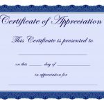 Free Printable Certificates Certificate Of Appreciation Certificate   Free Printable Certificates For Students