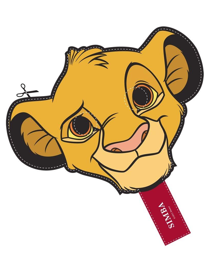Free Printable Character Face Masks | Kindy Graduation | Lion King - Free Printable Lion Mask