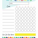 Free Printable   Chore Chart For Kids | Ogt Blogger Friends | Chore   Free Printable Chore Charts For Kids With Pictures