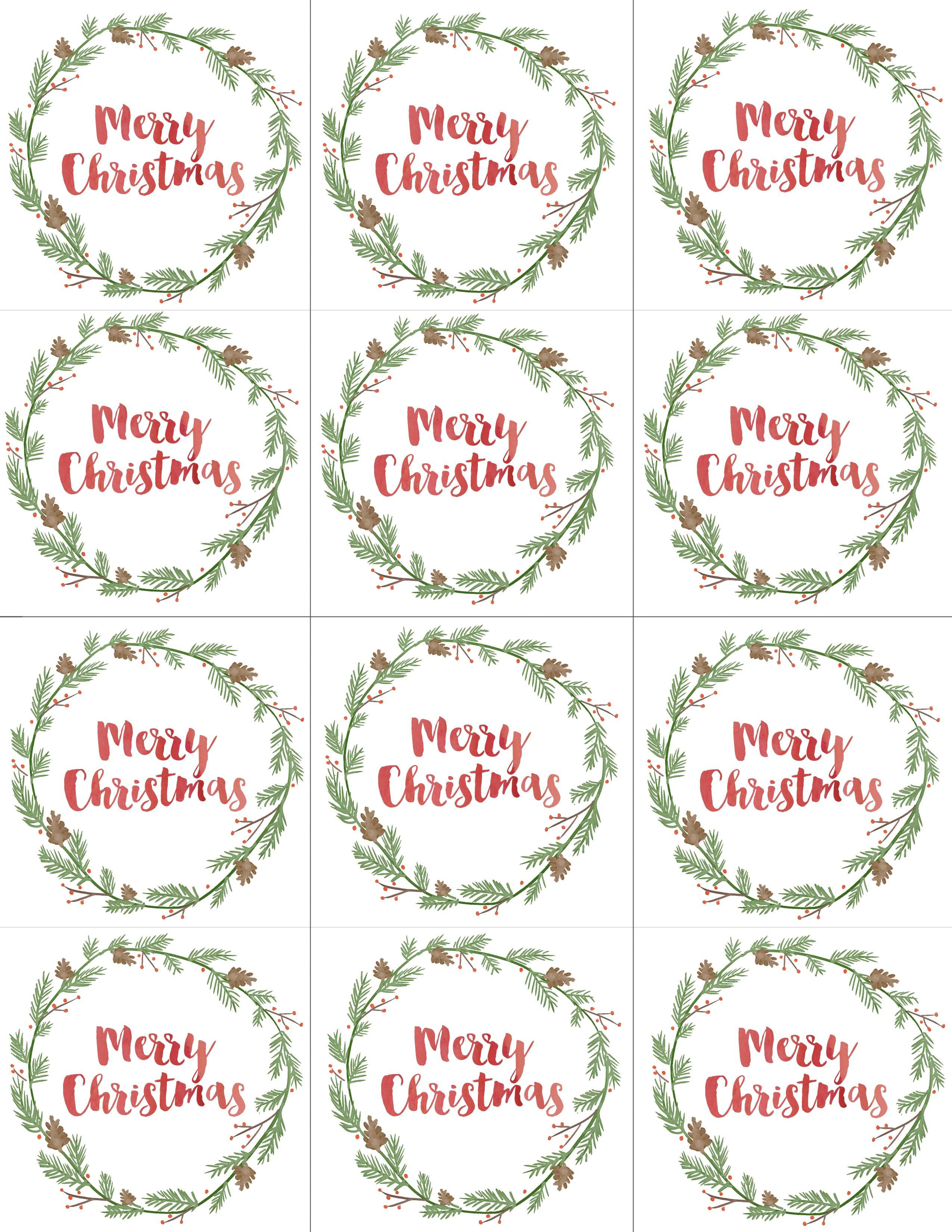 Free Printable Christian Christmas Gift Tags – Festival Collections - Free Printable Christian Christmas Gift Tags
