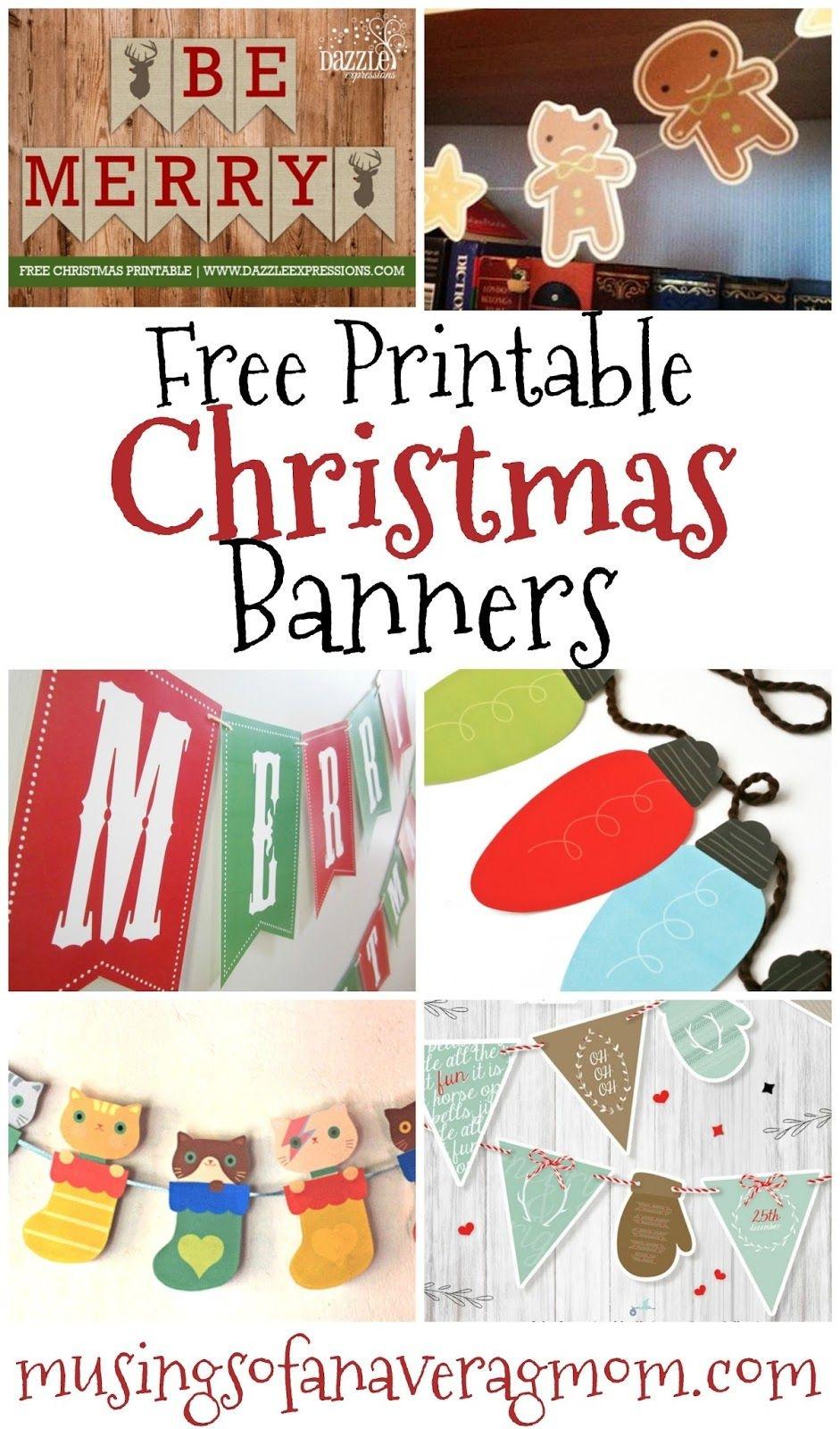Free Printable Christmas Banners   Banner Letters   Free Christmas - Free Printable Christmas Decorations
