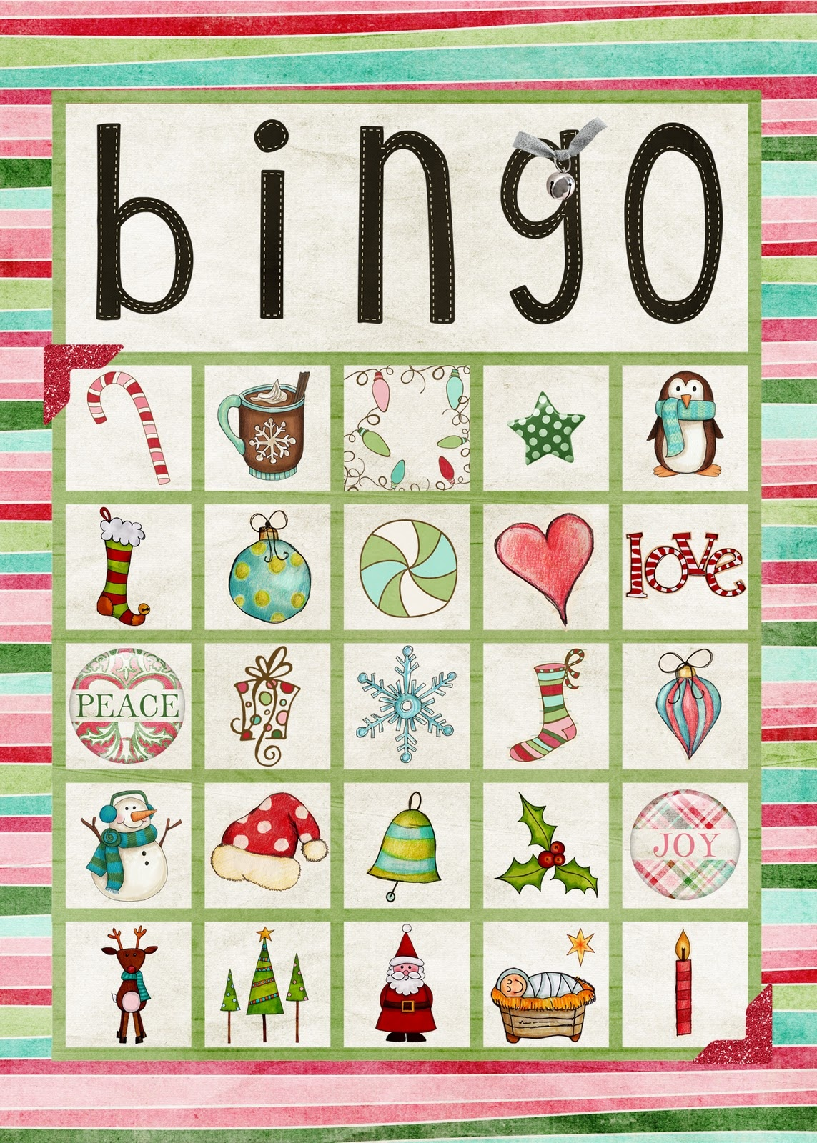 Free Printable Christmas Bingo Cards For Large Groups - Printable Cards - Free Printable Bingo Cards For Large Groups
