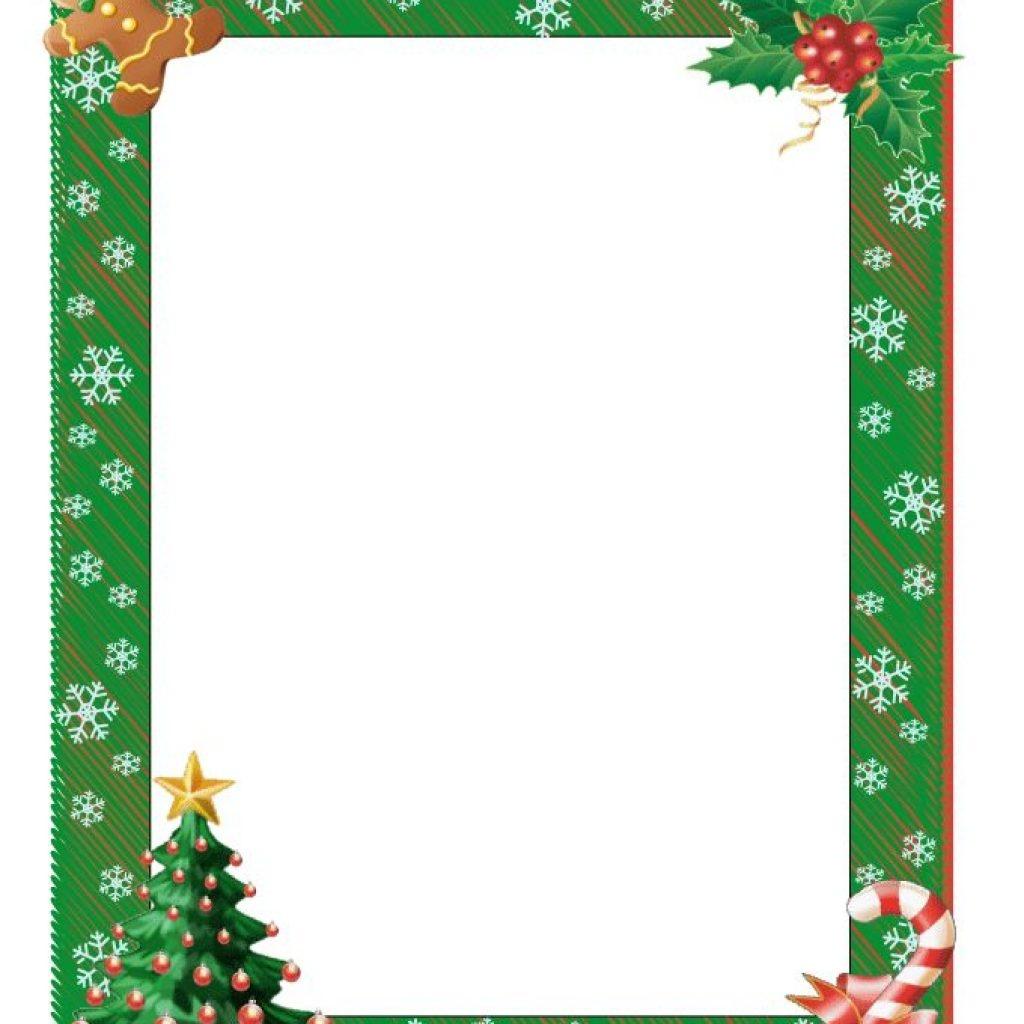 Free Printable Christmas Border Paper (73+ Images In Collection) Page 1 - Free Printable Christmas Paper With Borders