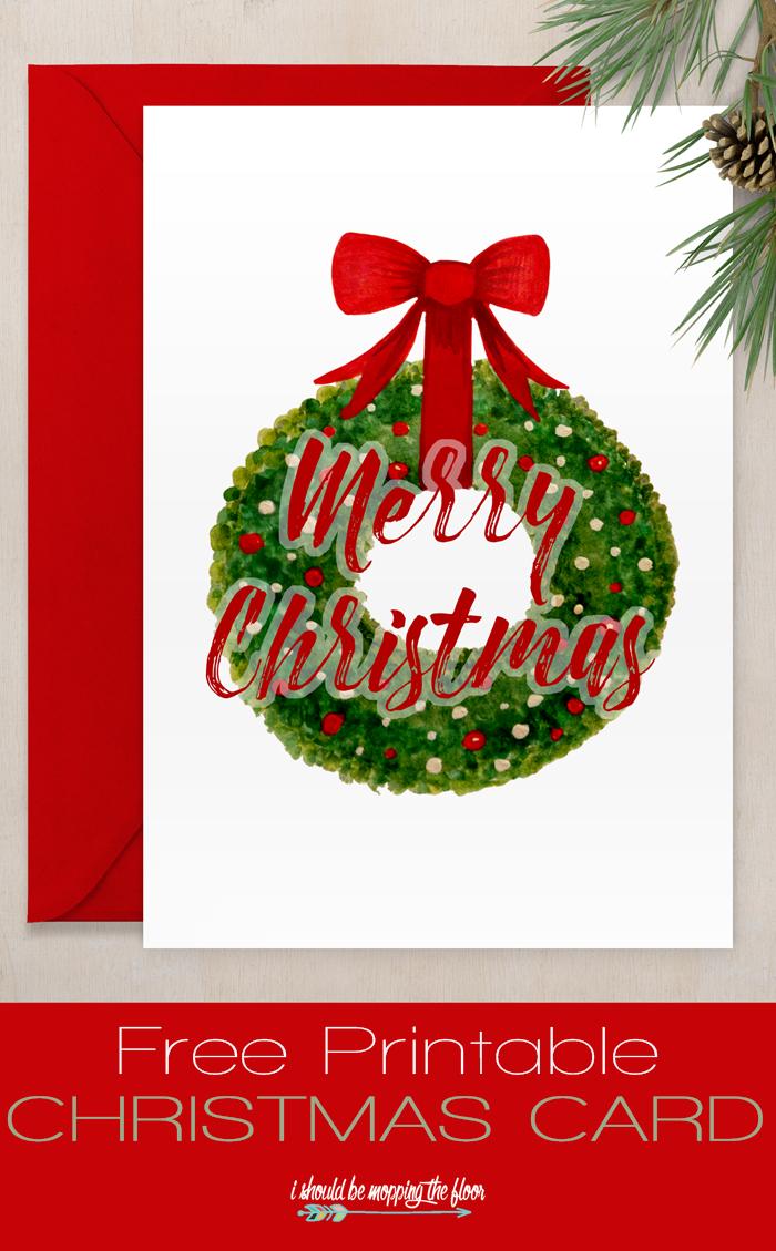 Free Printable Christmas Card | Sharing Christmas Spirit | Free - Free Printable Xmas Cards Download