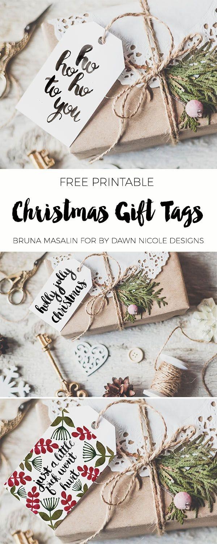 Free Printable Christmas Gift Tags   *all Things Art + Hand - Diy Christmas Gift Tags Free Printable
