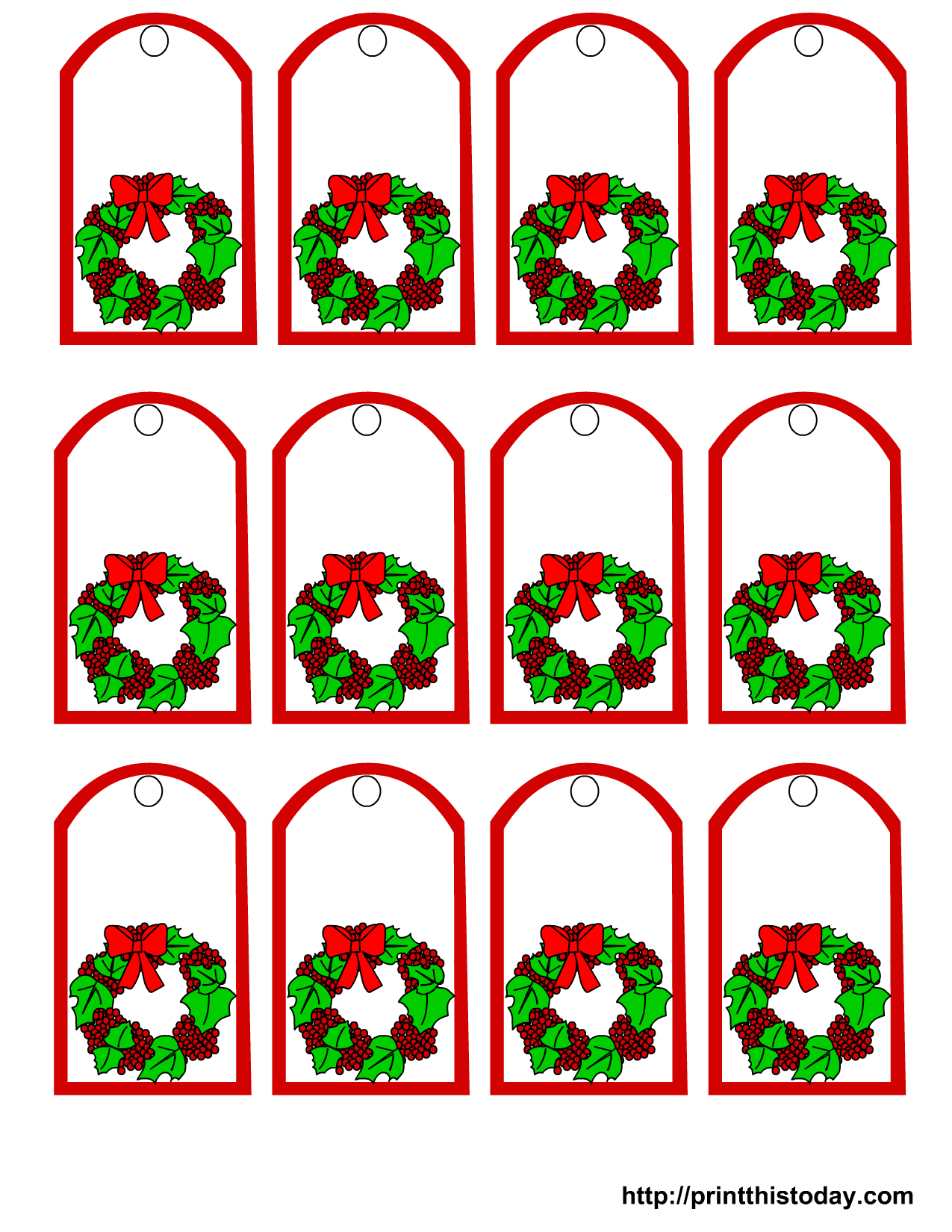 Free Printable Christmas Gift Tags - Free Printable Mistletoe Tags