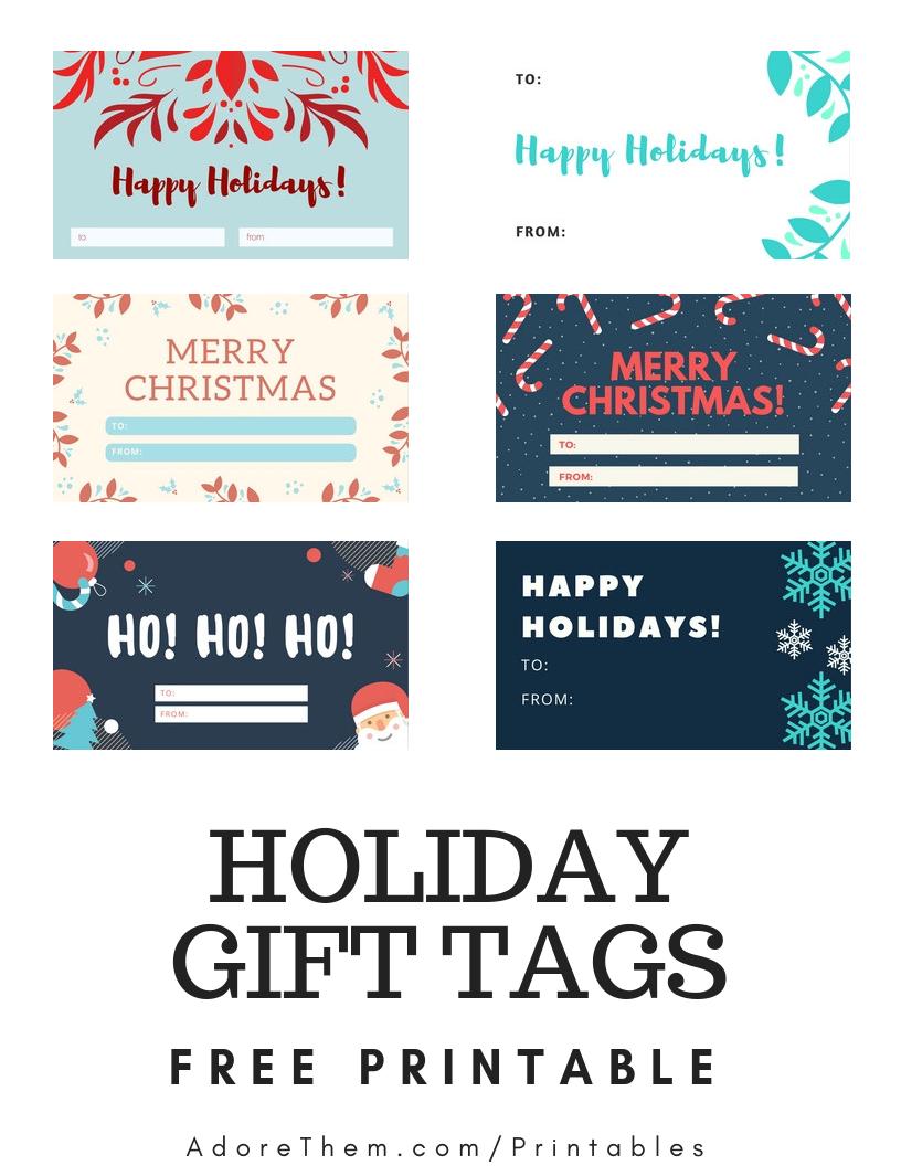 Free Printable Christmas Gift Tags | Free Printables | Free - Free Printable Toe Tags