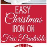 Free Printable Christmas Iron On Transfers – Festival Collections   Free Printable Christmas Iron On Transfers