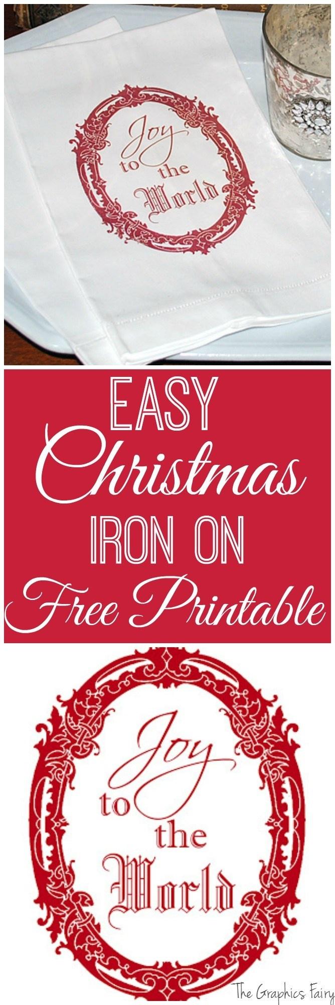 Free Printable Christmas Iron On Transfers – Festival Collections - Free Printable Christmas Iron On Transfers