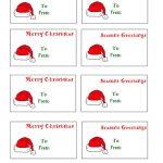 Free Printable Christmas Labels Santa Hat Christmas Gift Tags To   Free Printable Christmas Labels