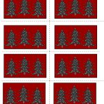 Free Printable Christmas Labels With Trees   Free Printable Holiday Labels