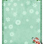Free Printable Christmas Paper Templates   Free Printable Christmas Templates