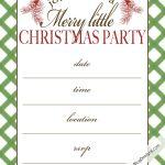 Free Printable Christmas Party Invitation | Christmas:print   Free Online Printable Christmas Party Invitations