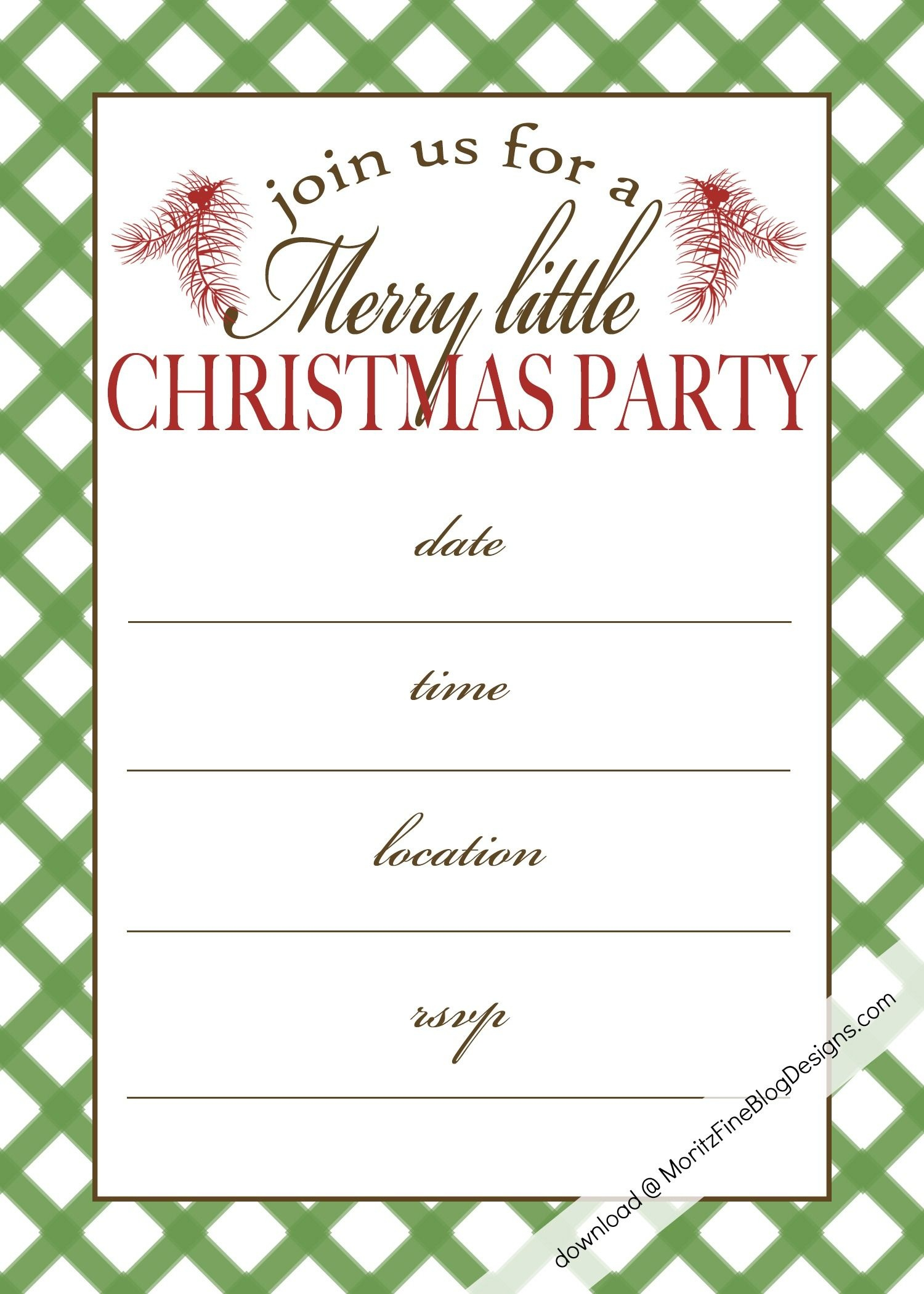 Free Printable Christmas Party Invitation | Christmas:print - Free Online Printable Christmas Party Invitations