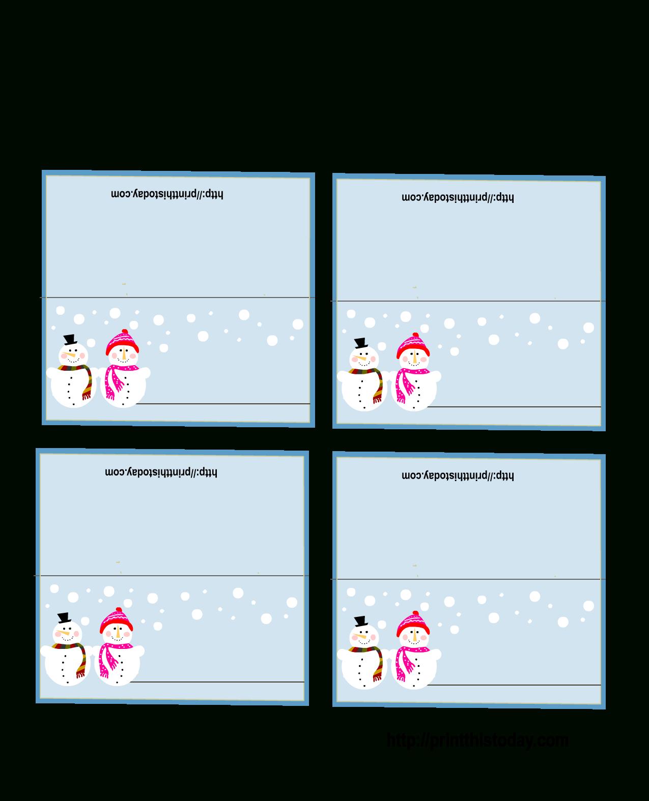 Free Printable Christmas Place-Cards - Free Online Printable Christmas Cards