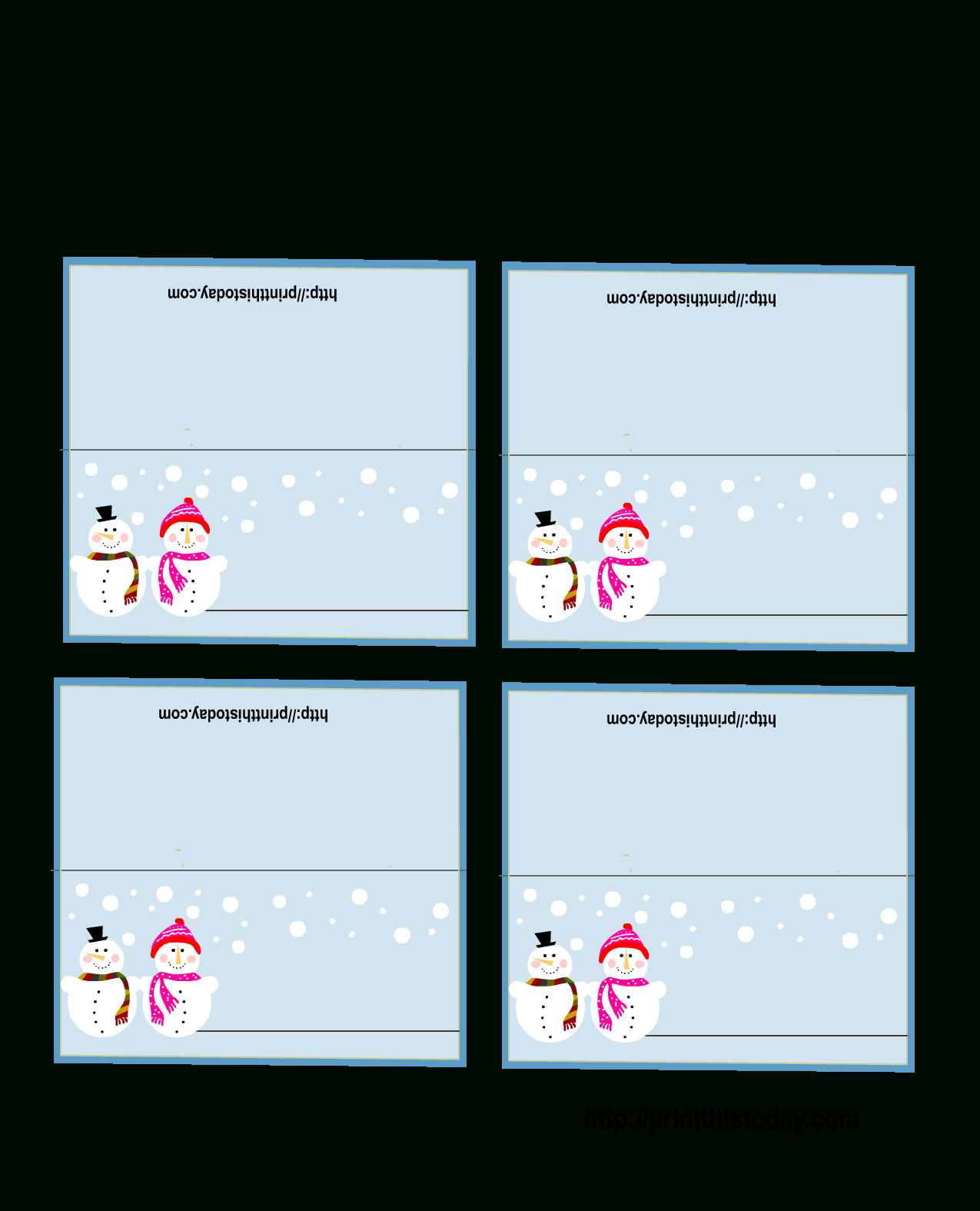 Free Printable Christmas Place-Cards - Free Printable Christmas Place Name Tags