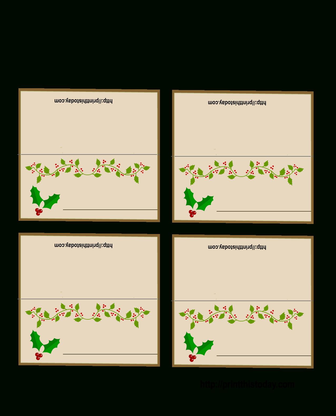 Free Printable Christmas Place Name Tags – Festival Collections - Free Printable Christmas Place Name Tags