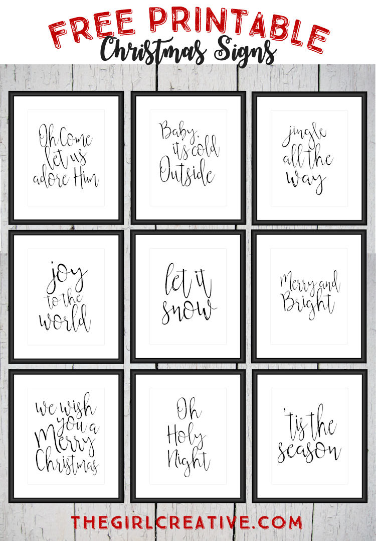Free Printable Christmas Signs   The Top Pinned   Free Christmas - Free Printable Christmas Craft Templates