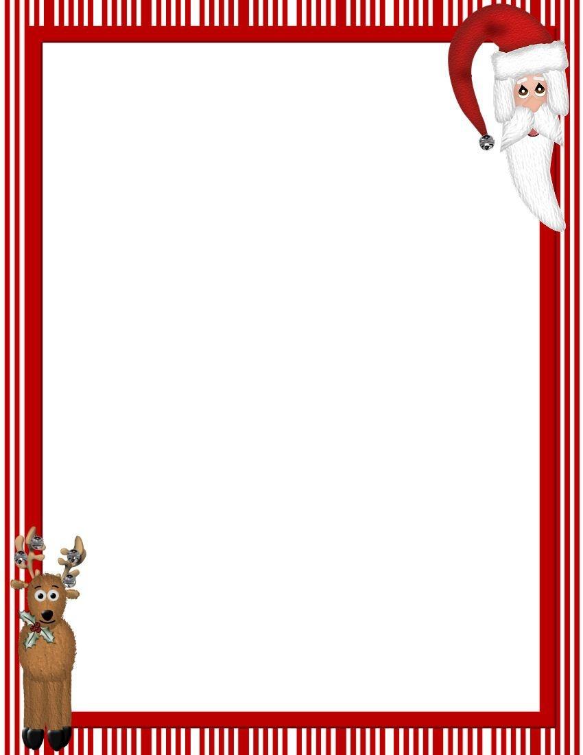 Free Printable Christmas Stationary Borders   Christmasstationery - Free Printable Santa Paper