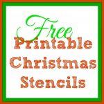 Free Printable Christmas Stencils – Christmas Tree Templates & Santa   Free Printable Christmas Templates