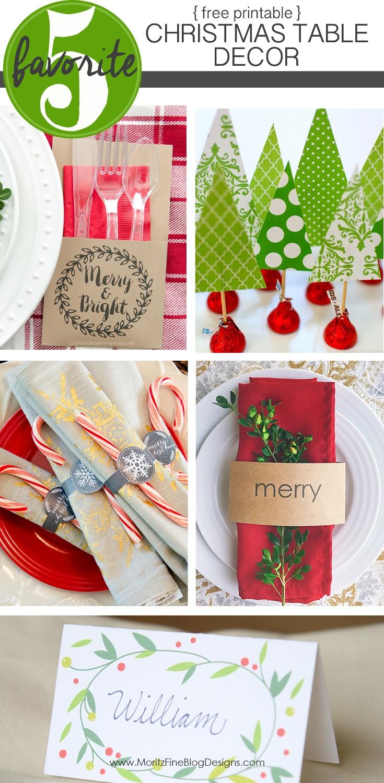 Free Printable Christmas Table Decor   Friday Favorite 5   Moritz - Free Printable Christmas Decorations