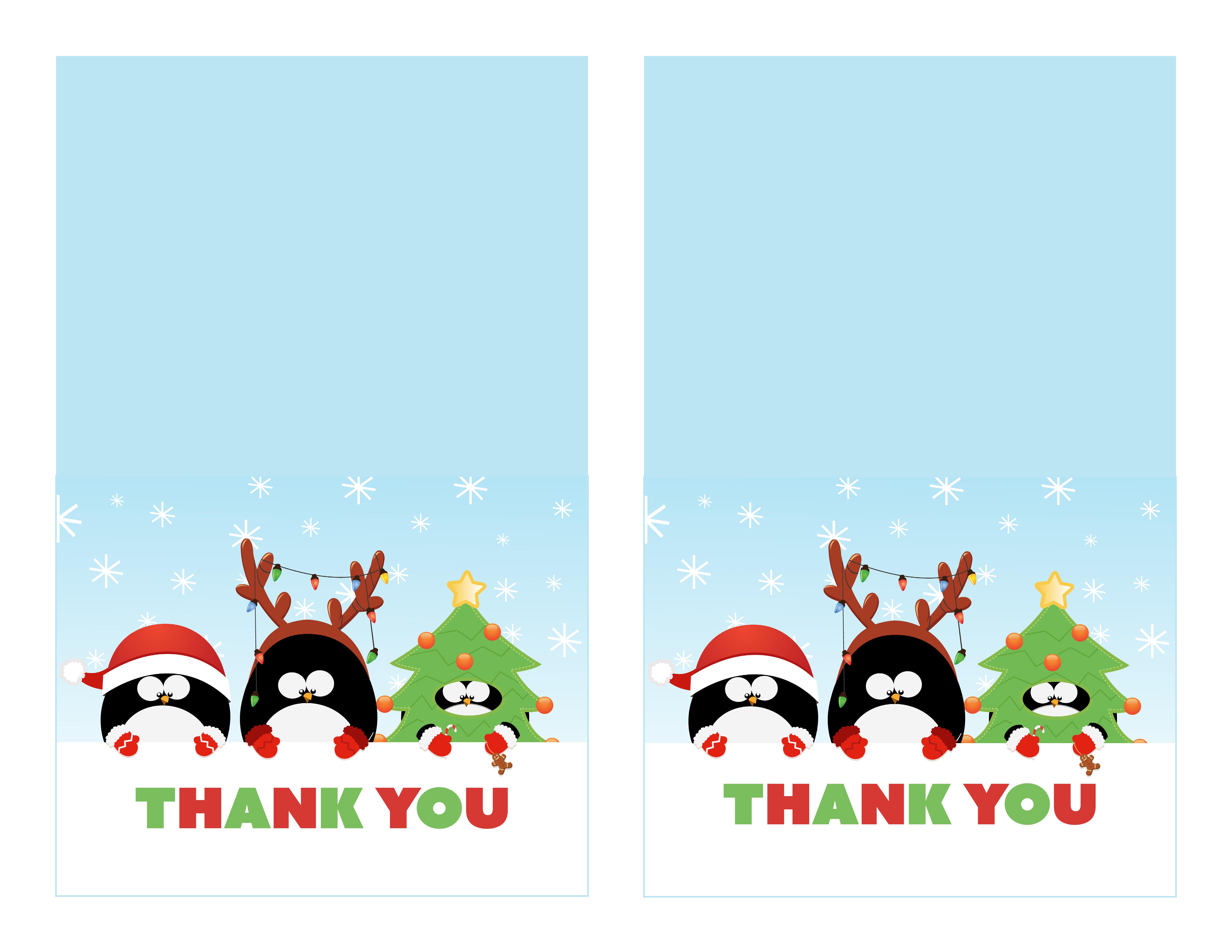 Free Printable Christmas Thank You Cards - Printable Cards - Free Printable Christmas Thank You Cards