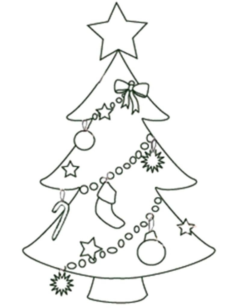 Free Printable Christmas Tree Templates | Free Printable Coloring - Free Printable Christmas Tree Ornaments Coloring Pages