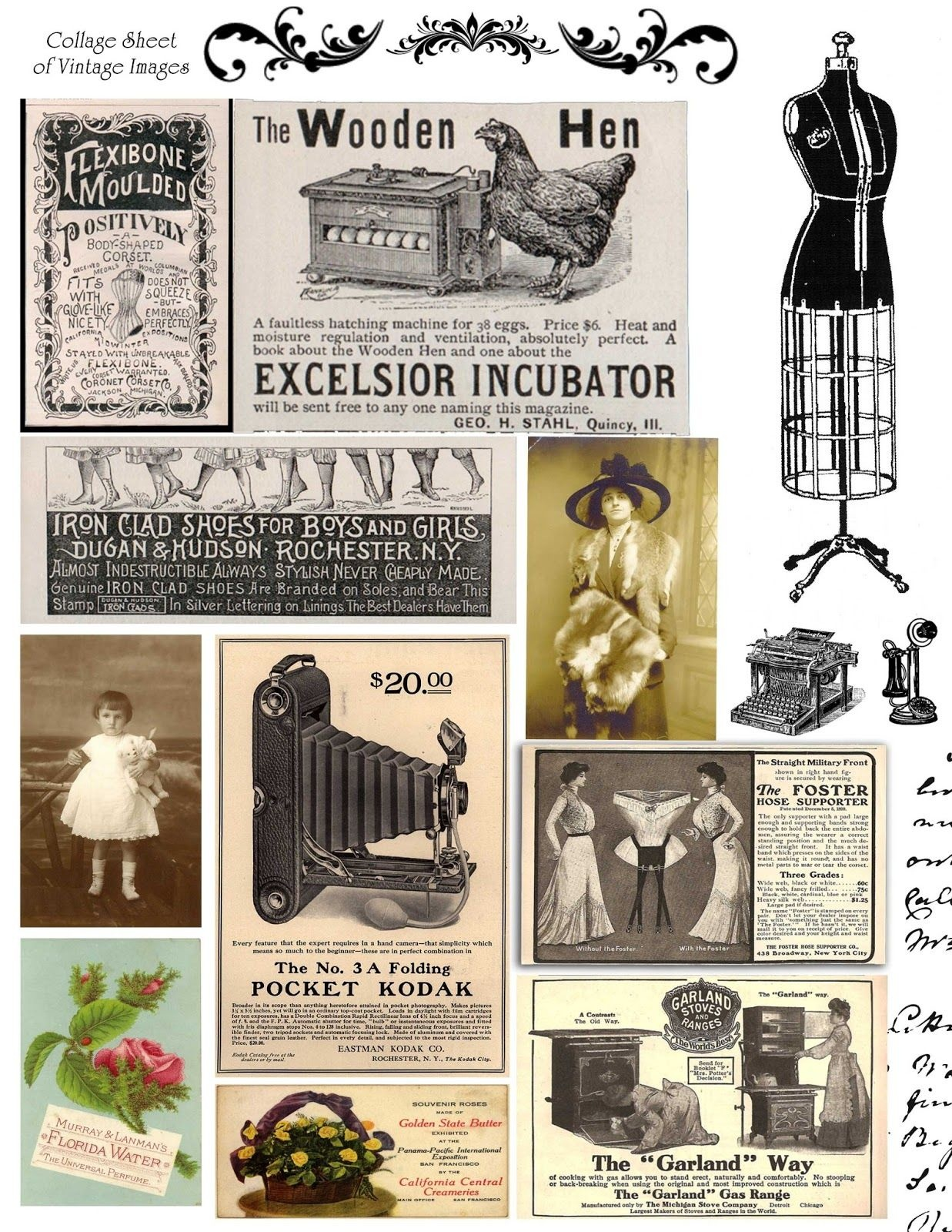 Free Printable Collage Sheets    Digital Stamps**: Free Vintage - Free Printable Digital Collage Sheets