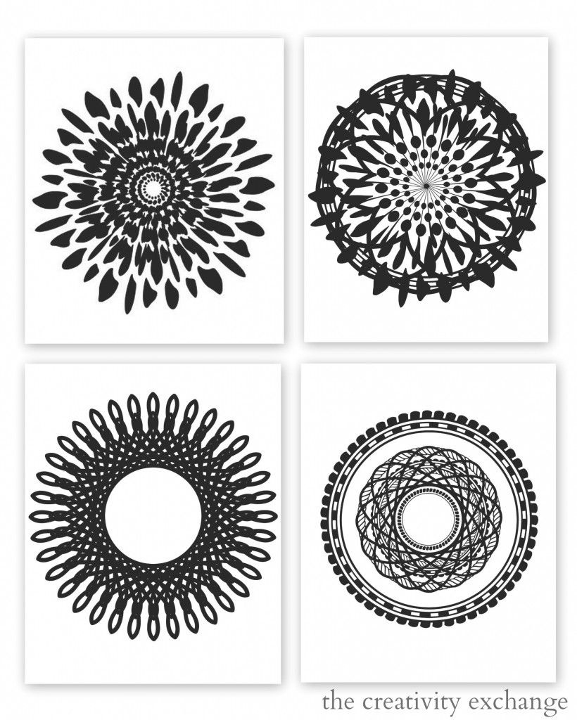 Free Printable Collection Of Modern Black And White Prints | Free - Free Black And White Printables