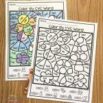Free Printable Colorcode Cvc Words   Primary Playground   Free Printable Cvc Words With Pictures