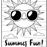 Free Printable Coloring Page: Summer Fun | Summer//underwater   Free Printable Summer Coloring Pages For Adults
