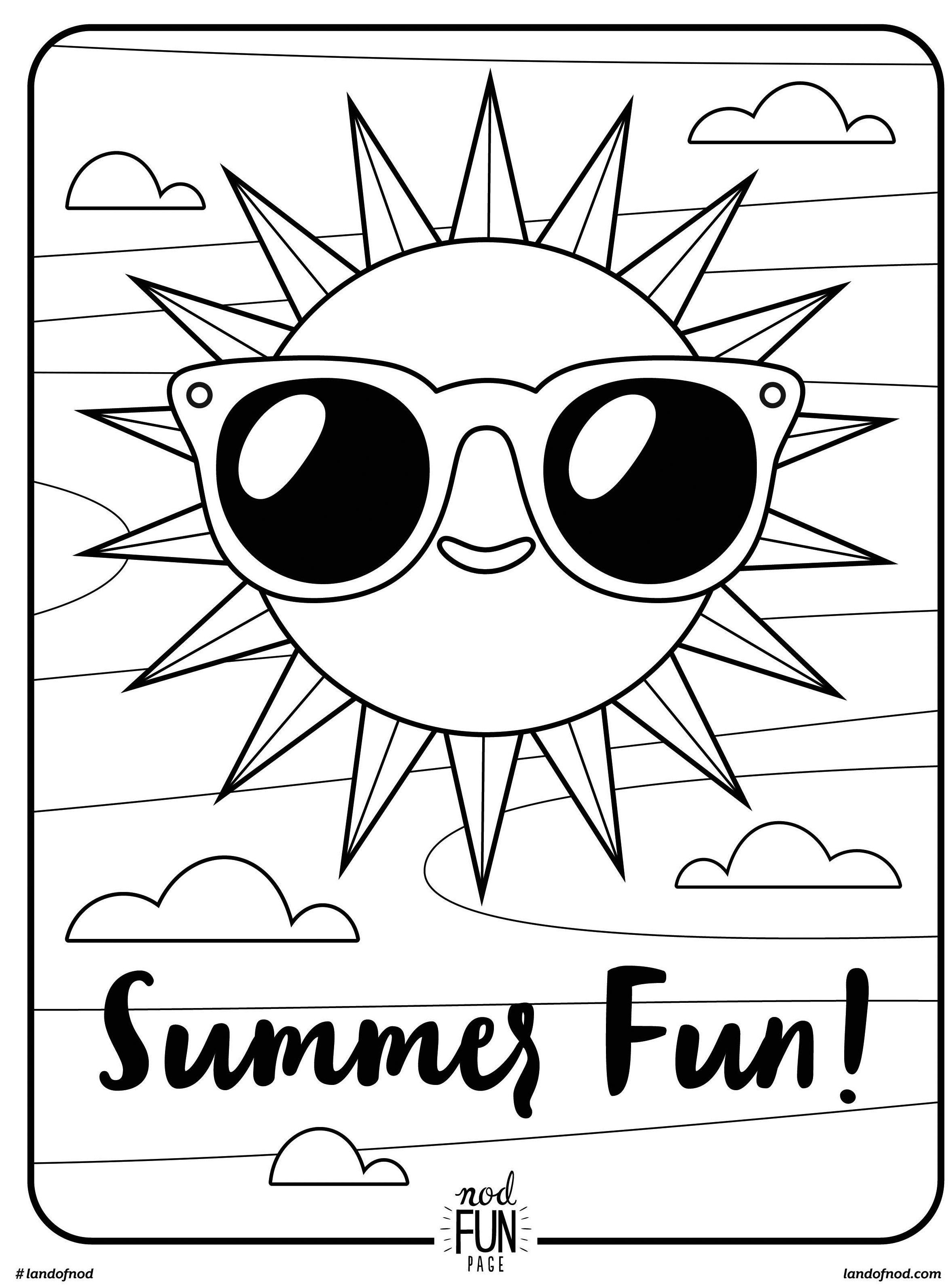Free Printable Coloring Page: Summer Fun | Summer//underwater - Free Printable Summer Coloring Pages For Adults