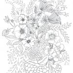 Free Printable Coloring Pages: 10 New Printable Coloring To Color   Free Printable Flower Coloring Pages For Adults