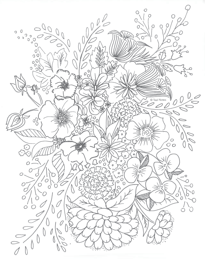 Free Printable Coloring Pages: 10 New Printable Coloring To Color - Free Printable Flower Coloring Pages For Adults