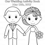 Free Printable Coloring Pictures Wedding | Printable Personalized   Free Printable Personalized Wedding Coloring Book
