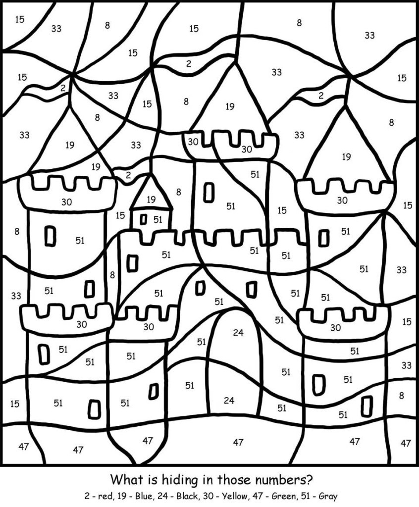 Free Printable Colornumber Coloring Pages - Best Coloring Pages - Free Printable Color By Number